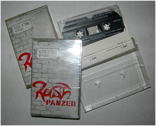 rash panzer,rock n' roll street,pro-tape 1988,pro-k7,hard rock,trust,john woollof,denis weinreich,suisse