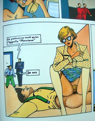 philippe bertrand,linda aime l'art,pilote,b.ds érotique,bande dessinée érotique