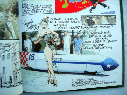 denis sire,6t mélodie,bande dessinée,b.d,rock'n'roll,bikers,harley,triumph,sixties,pin-ups,fifties