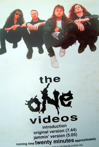 metallica,2 of one,vhs,k7 vidéo,clips,thrash metal