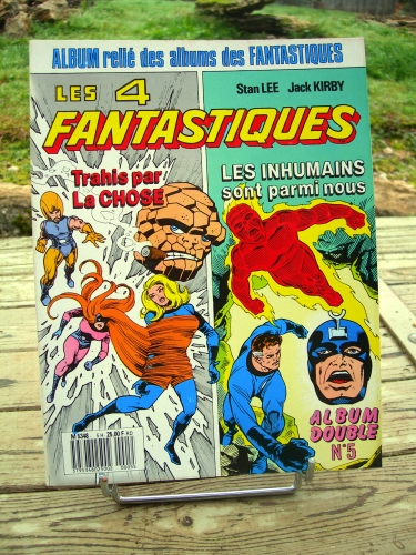 les 4 fantastiques,album double n°5,lug,comics,marvel,stan lee,jack kirby,vince colletta,joe sinnott,trahis par la chose,les inhumains sont parmi nous,les 4 fantastique n°38,les 4 fantastiques n°39